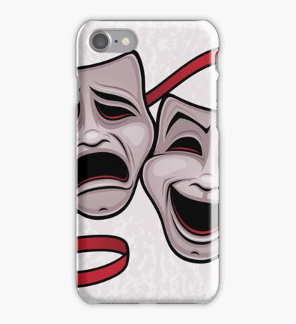 Comedy And Tragedy Theater Masks iPhone Case/Skin