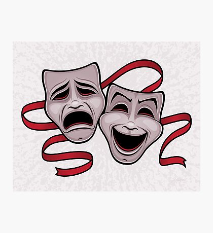 Comedy And Tragedy Theater Masks Photographic Print