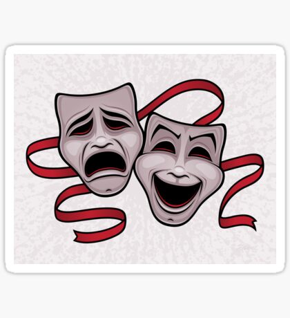 Comedy And Tragedy Theater Masks Sticker