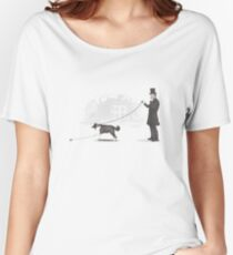 Walking The Dog Women's Relaxed Fit T-Shirt