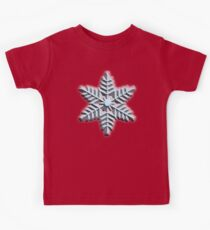 ICE, SNOWFLAKE, Cool, Snow, Snow crystals, Winter, Cold, Ice Crystal, Frozen, Freeze Kids Tee