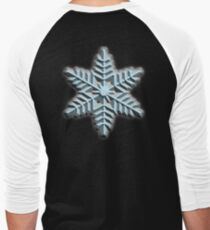 ICE, SNOWFLAKE, Cool, Snow, Snow crystals, Winter, Cold, Ice Crystal, Frozen, Freeze Men's Baseball ¾ T-Shirt