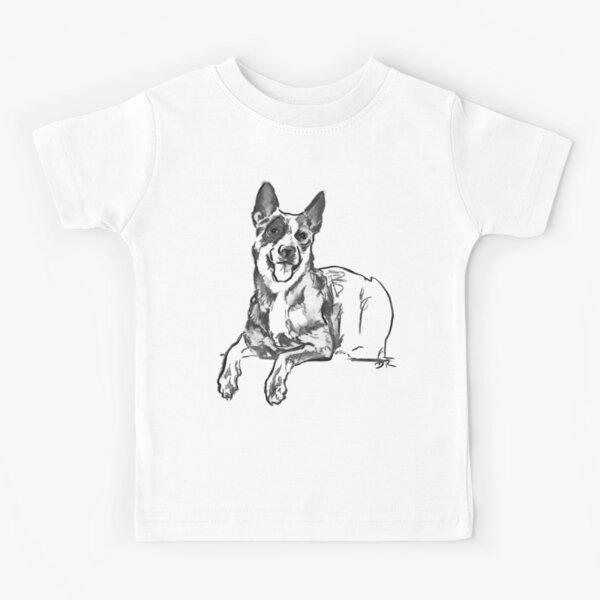 Blue Heeler Drawing Kids T-Shirt