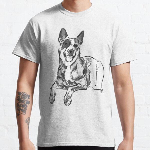 Blue Heeler Drawing Classic T-Shirt