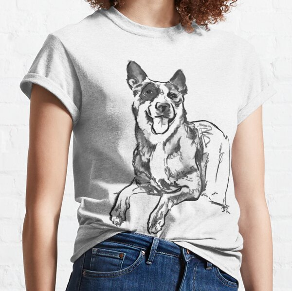 Blue Heeler Drawing Classic T-Shirt