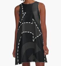arrows (black) A-Line Dress