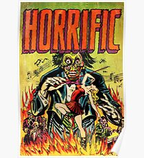 Horrific Tales Zombie Conductor Comic Cover Poster