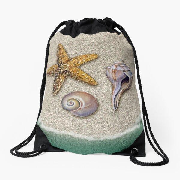 Beach Treasures Drawstring Bag