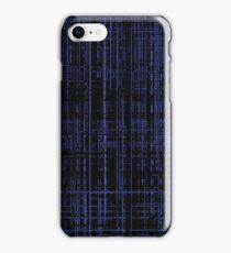 Line Art Dark Blue Matrix iPhone Case/Skin