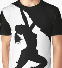 girl bouldering silhouette Graphic T-Shirt