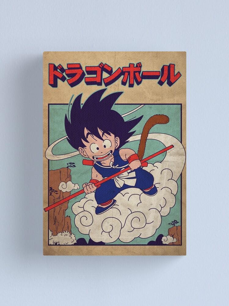 Alternate view of Vintage Goku Poster Canvas Print