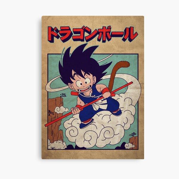 Vintage Goku Poster Canvas Print