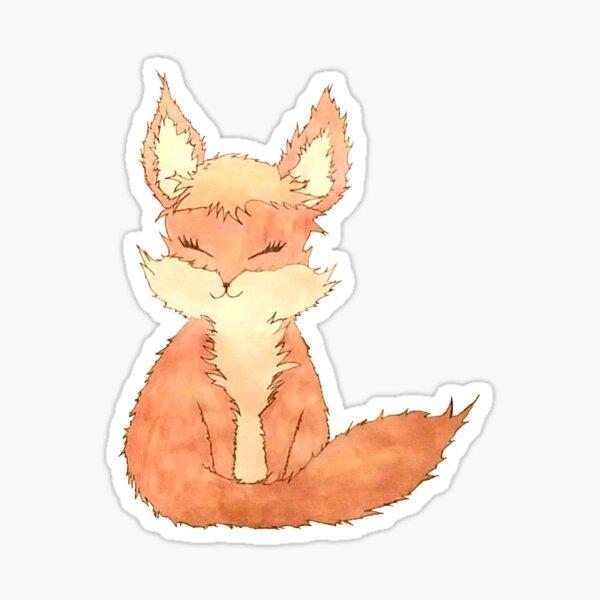 Happy Fox Sticker