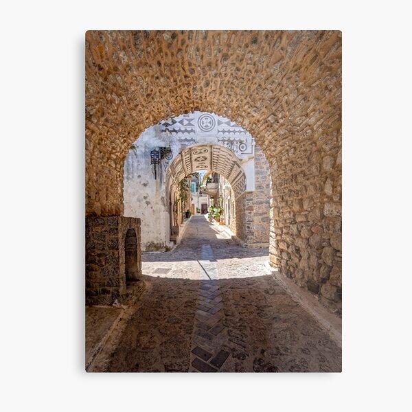 Urban Frame. Chios island, Greece. Metal Print