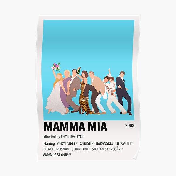 Mamma Mia Minimalist Poster Poster