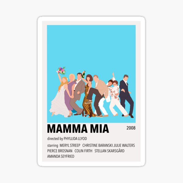 Mamma Mia Minimalist Poster Sticker