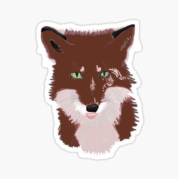 Foxy - Retro Red Fox Sticker