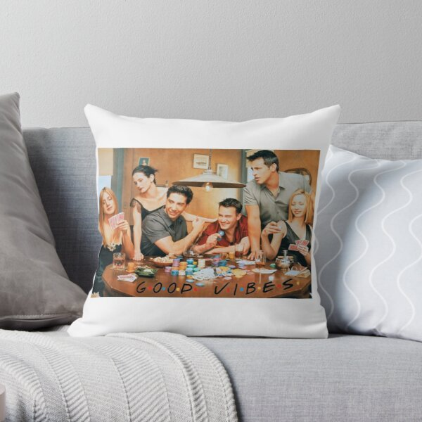 Good Vibes with Friends Throw Pillow