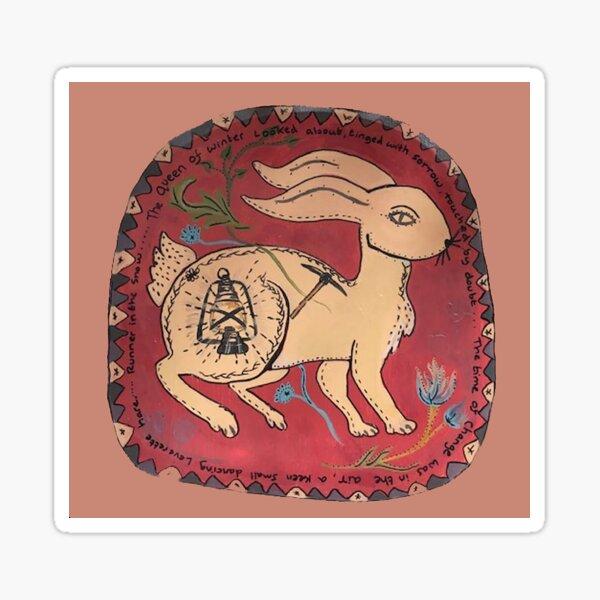 Miners Leverette Hare ( Dartmoor Folklore ) Sticker
