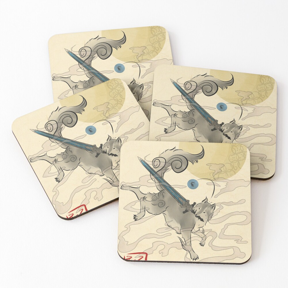 The Great Grey Wolf - Sifkami Coasters (Set of 4)