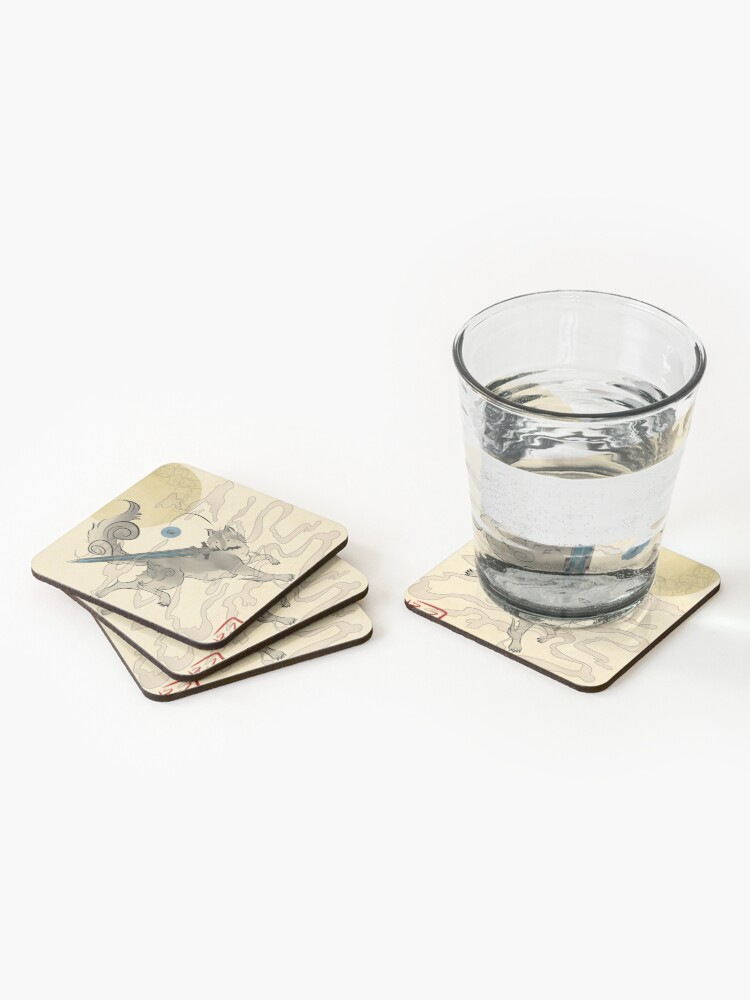 Alternate view of The Great Grey Wolf - Sifkami Coasters (Set of 4)