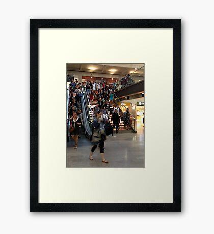 Rush hour - hurry up! Framed Print