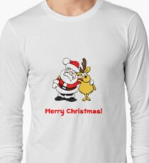 Santa Reindeer Merry Christmas T-Shirt