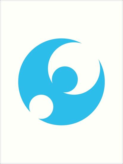 Pokmon Moon Logo Art Prints By Mudkip Redbubble