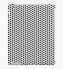 Dots pattern in black and white iPad Case/Skin