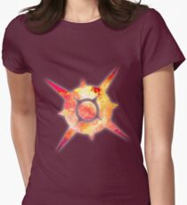Pokémon Sun Logo Space Womens Fitted T-Shirt