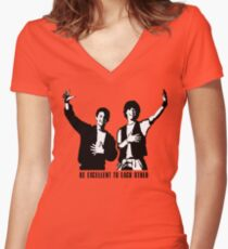 Be excellent to each other Women's Fitted V-Neck T-Shirt