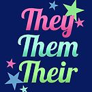 They / Them / Their Pronouns – Singular They – Non-Binary by riotcakes