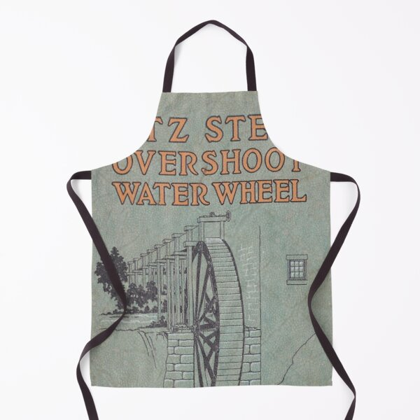 Vintage Water Wheel Catalog Cover Apron