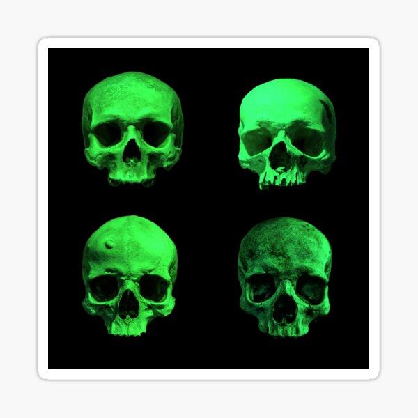 Skull quartet green Sticker