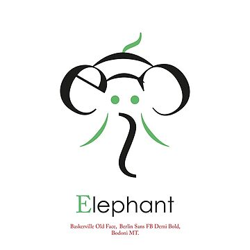 Elephant Typography by justjimdesign