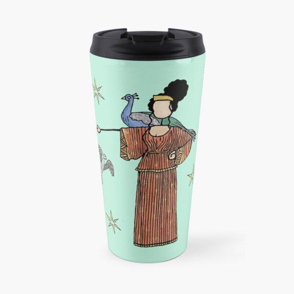 Greek Myth Comix - Hera and her cuckoo and peacock Travel Mug