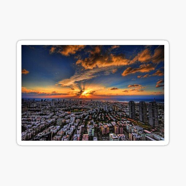 Tel Aviv, sunset time Sticker
