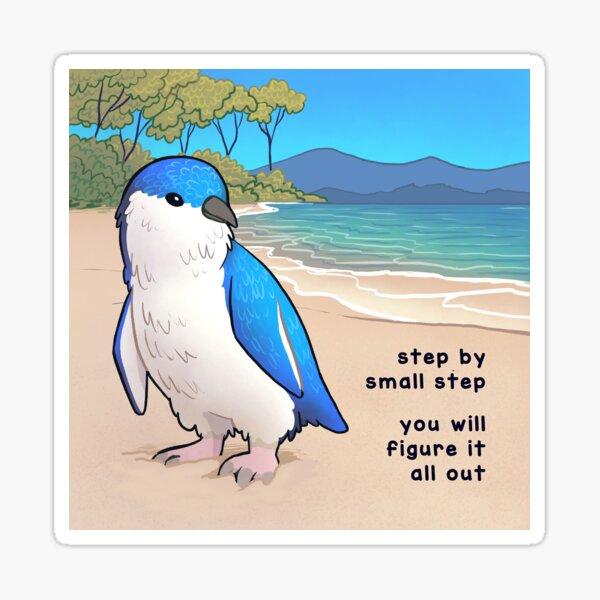 """Petite fée bleue Pengiun """"Pas à pas"""" Sticker"""