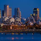 city lights and twilight hour at Tel Aviv by Ronsho