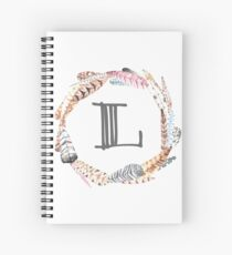 Feather Monogram L Spiral Notebook