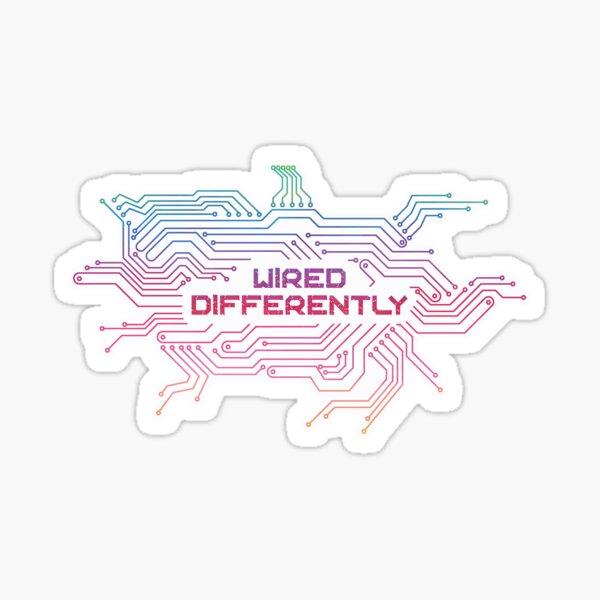 Wired Differently Sticker