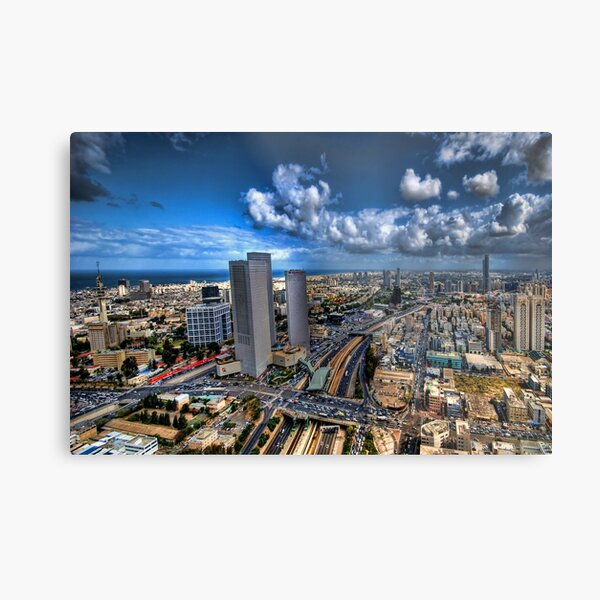 Tel Aviv, sunrise over the city Metal Print