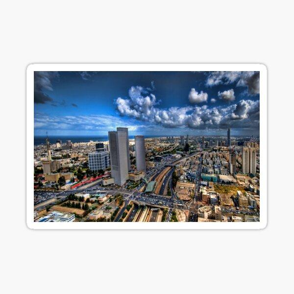 Tel Aviv, sunrise over the city Sticker