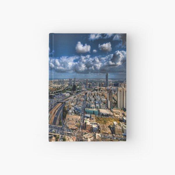 Tel Aviv, sunrise over the city Hardcover Journal