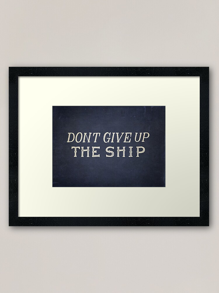 Alternate view of Commodore Perry Dont Give Up The Ship Framed Art Print