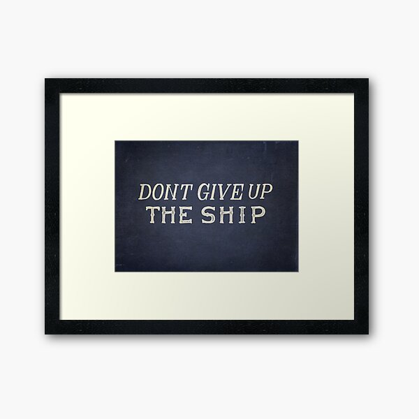 Commodore Perry Dont Give Up The Ship Framed Art Print