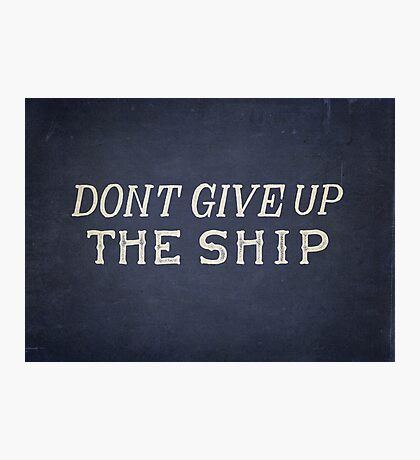 Commodore Perry Dont Give Up The Ship Photographic Print
