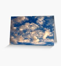 Clouds During a June Sunset Greeting Card