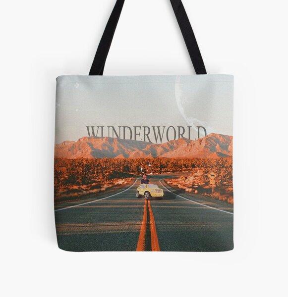 wunderworld original artwork moon 4x4 car mountain All Over Print Tote Bag
