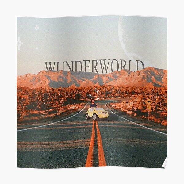 wunderworld original artwork moon 4x4 car mountain Poster